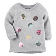 Baby Girl Carter's Sequin Dot Sweatshirt