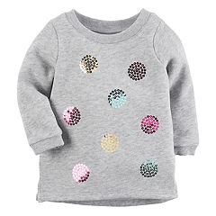 Baby Girl Carter's Sequin Dot Sweatshirt