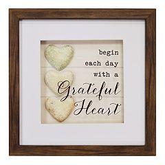 New View 'Grateful Heart' Shadowbox Wall Art