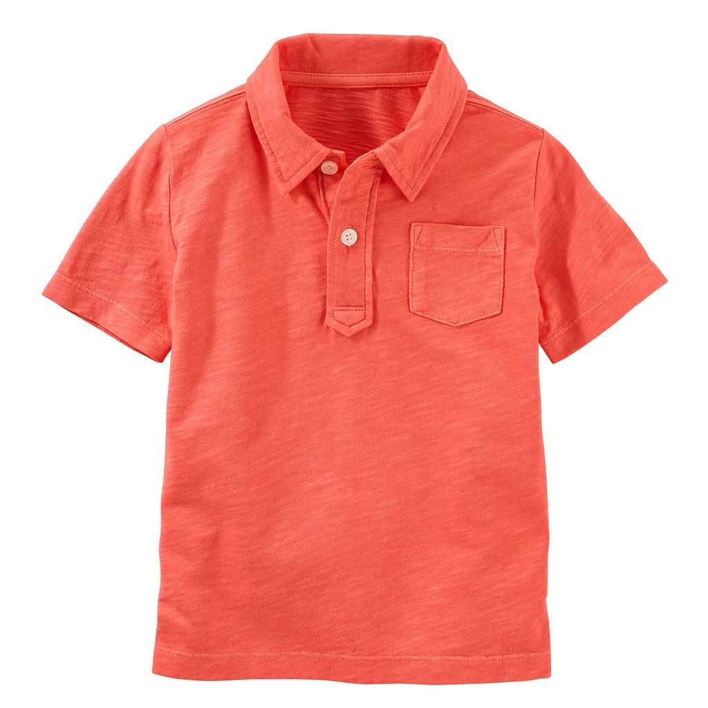 Boys 4-12 OshKosh B'gosh® Solid Slubbed Polo