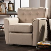 Baxton Studio Canberra Swivel Arm Chair