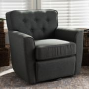 Baxton Studio Canberra Swivel Arm Chair