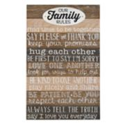 "New View ""Family Rules"" Wall Art"