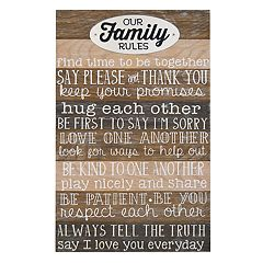 New View 'Family Rules' Wall Art