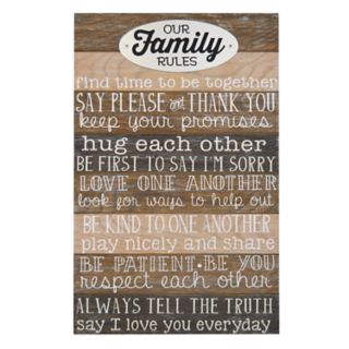 """New View """"Family Rules"""" Wall Art"""