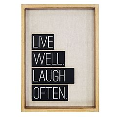 New View 'Live Well' Wall Art