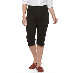 Women's Croft & Barrow® Pull-On Polished Skimmer Capris
