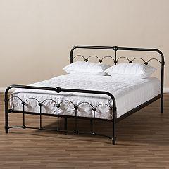Baxton Studio Celeste Vintage Industrial Platform Bed