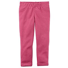 Baby Girl Carter's Sparkly Pink Knit Pull-On Pants