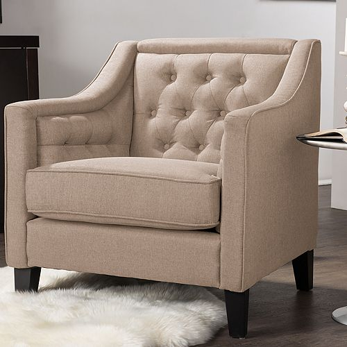 Baxton Studio Vienna Traditional Swoop Arm Chair