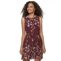 Juniors' Mason & Belle Open Back Floral Skater Dress