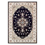 Couristan Vintage Floral Malayer Framed Floral Rug