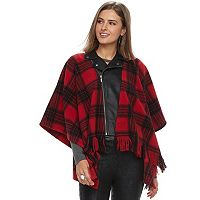 Women's Rock & Republic® Faux-Leather Moto Poncho Jacket