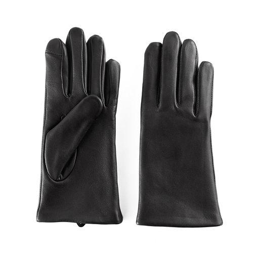 Women's Apt. 9® Fleece Lined Leather Tech Gloves