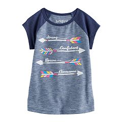 Toddler Girl Jumping Beans® 'Strong Confident Brave Awesome' Arrow Nep Graphic Tee