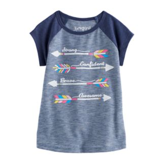 "Toddler Girl Jumping Beans® ""Strong Confident Brave Awesome"" Arrow Nep Graphic Tee"