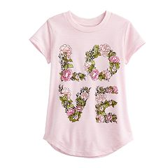 Toddler Girl Jumping Beans® 'Love' Tee