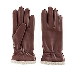 Women's Apt. 9® Faux Shearling Lined Leather Tech Gloves