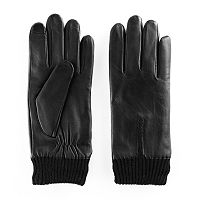 Women's Apt. 9® Knit Cuff Leather Tech Gloves