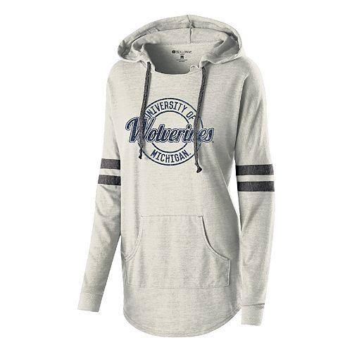 Women's Michigan Wolverines Low Key Pullover Hoodie