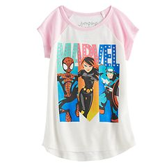 Toddler Girl Jumping Beans® Marvel Spider-Man, Black Widow & Captain America Slubbed Graphic Tee