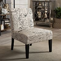 Baxton Studio Script Armless Accent Chair