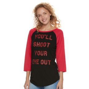 "Juniors' A Christmas Story ""You'll Shoot Your Eye Out"" Graphic Tee"