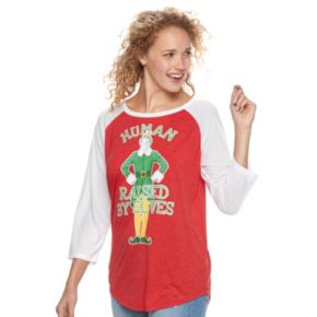 "Juniors' Elf ""Human Raised By Elves"" Graphic Tee"