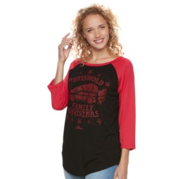 """Juniors' National Lampoon's Christmas Vacation """"Griswold Family"""" Graphic Tee"""