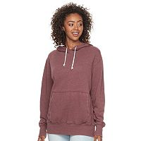 Junior's SO® Oversized Fleece Hoodie with Kangaroo Pocket