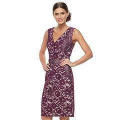 Women's Chaya Contrast Lace Sheath Dress