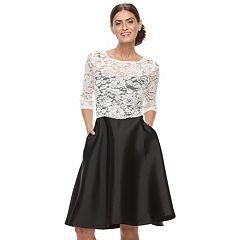 Women's Chaya Colorblock Lace Fit & Flare Dress
