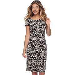 Women's Ronni Nicole Print Jacquard Sheath Dress
