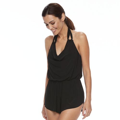 be1588b4e2b Women s Trimshaper Drapey Swim Romper