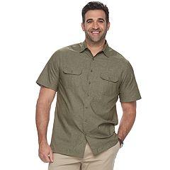 Big & Tall Croft & Barrow® Regular-Fit Outdoor Quick-Dry Button-Down Shirt