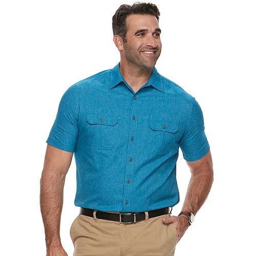 ad2880db41 Big   Tall Croft   Barrow® Regular-Fit Outdoor Quick-Dry Button-Down Shirt
