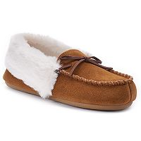 Women's Chaps Suede Moccasin Slippers
