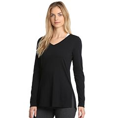 Women's Danskin Half Moon Long Sleeve Tee