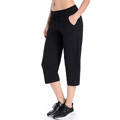 8806bacb476841 Women's Danskin Drawstring High-Waist Capris. Charcoal Gray Heather Rich  Black