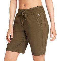 0590503686 Women's Danskin High-Waisted Bermuda Shorts