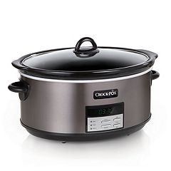 Crock-Pot 8-qt. Black Stainless Digital Slow Cooker