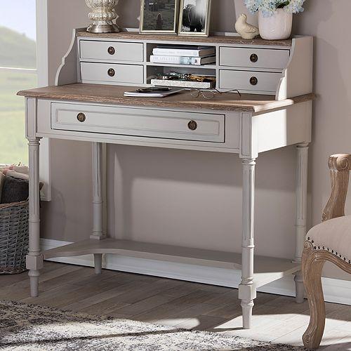 Baxton Studio Farmhouse Shabby Chic Desk