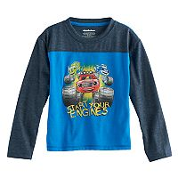 Toddler Boy Blaze & The Monster Machines Pickle & Crusher Raglan Long Sleeve Tee