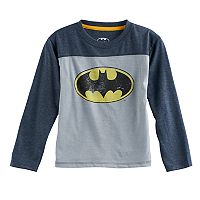 Toddler Boy DC Comics Batman Glow in the Dark Raglan Tee
