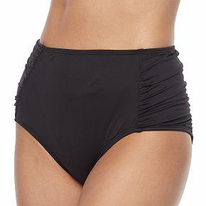 Women's Apt. 9® Solid High Waist Bikini Bottoms