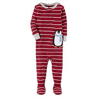 Baby Boy Carter's Animal Striped Footed Pajamas