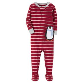 Baby Boy Carter's Animal Striped Footed Pajamas
