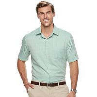 Big & Tall Croft & Barrow® Regular-Fit Easy-Care Microfiber Button-Down Shirt