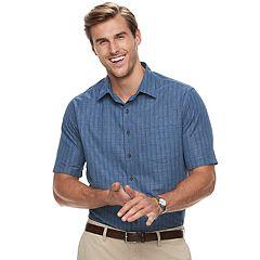 Big & Tall Croft & Barrow® Regular-Fit Easy-Care Microfiber Button-Down Shirt