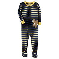 Toddler Boy Carter's Creature Striped Footed Pajamas